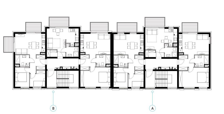 Budynek 1 - piętro 2